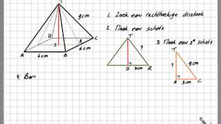 Stelling van Pythagoras in een piramide HAVO
