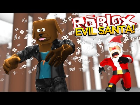 ROBLOX Facecam - ESCAPE FROM EVIL SANTA - Little Baby Max Games