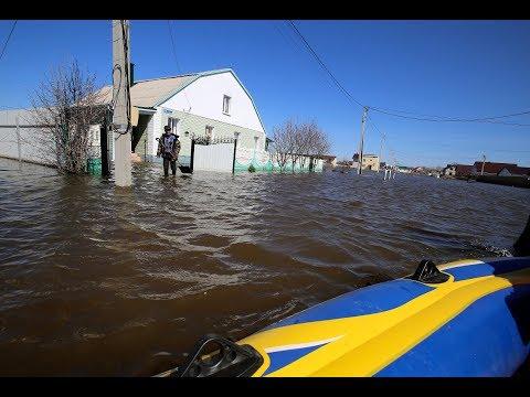 Жители Новой Усмани плавают по своим дворам на лодках