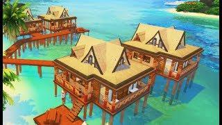 TROPICAL RESORT - ISLAND LIVING | Sims 4 Speed Build
