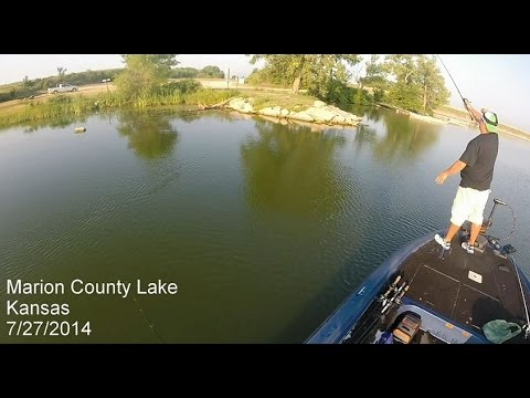 July marion county lake bass fishing youtube for Kansas out of state fishing license