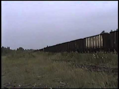 North Shore Mining CO Railroad Heading West In Northern Minnesota Aug 2000