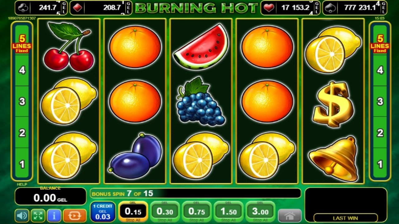 5 Burning Heart Slot Machine