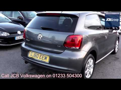 2010 Volkswagen Polo Hatch SE 1.4l Grey Anthracite Metallic GJ60EEM for sale at JCB VW Ashford