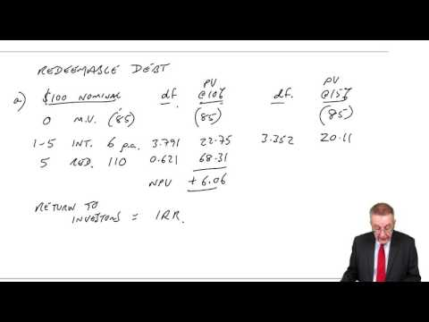 ACCA F9 The cost of Capital – Cost of debt