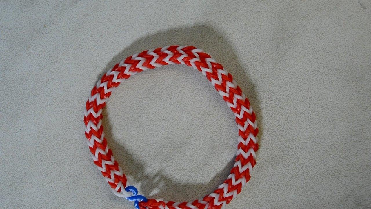 rainbow loom hexafish bracelet with fork loom bands hexafish armband diy youtube. Black Bedroom Furniture Sets. Home Design Ideas