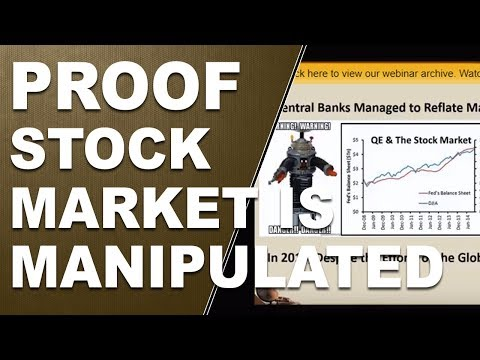 Proof The Stock Market Is Manipulated!  Market Manipulation Helped by The Fed and QE