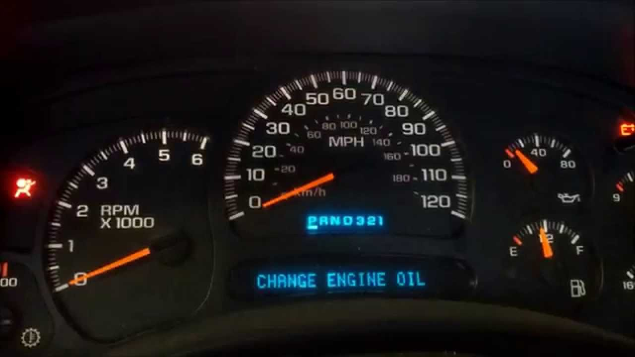 How To Reset The Change Oil Light On A Chevy Truck - YouTube