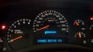How To Reset The Change Oil Light On A Chevy Truck
