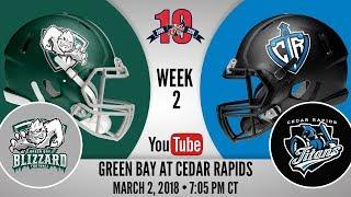 Week 2 | Green Bay Blizzard at Cedar Rapids Titans thumbnail
