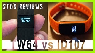 id107 vs tw64 comparison   cheapest fitness trackers   review