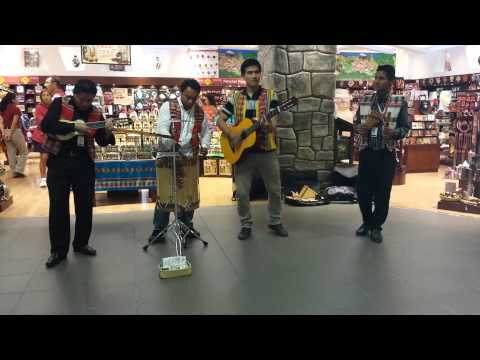 Peruvian musical group at Jorge Chavez Airport