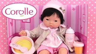 poup e corolle c lin yang mon premier coffret repas v tements baby doll meal. Black Bedroom Furniture Sets. Home Design Ideas