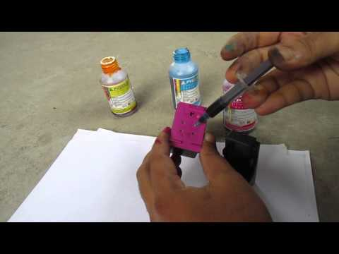 HOW TO REFILL HP 678 COLOR INK CARTRIDGE