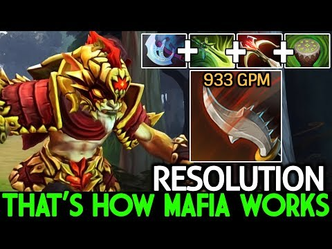 Resolution [Bounty Hunter] Steal Gold Faster Than Farming 933 GPM What A Play 7.21 Dota 2