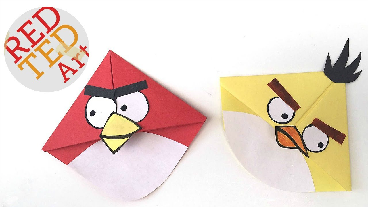 Angry Birds Crafts Easy Bookmark Corners With Michelle S Cuties Bird You