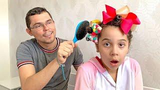 SARAH E O PAPAI sozinhos em CASA vídeo para CRIANÇAS
