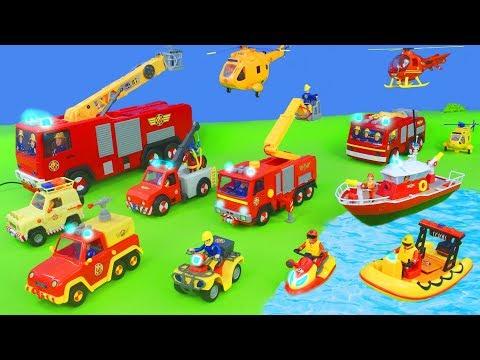 Le Pompier Sam jouets - Camion de pompier jouets - V�hicules jouets pour enfants