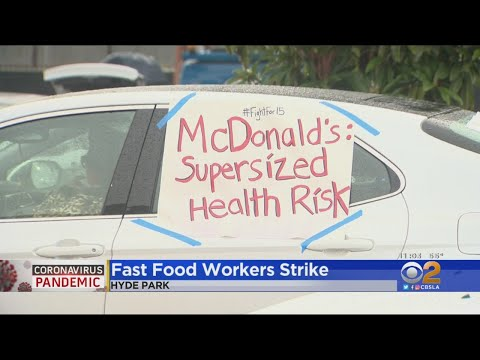 Fast Food Workers Strike After 3rd McDonald's Worker Tests Positive For Coronavirus