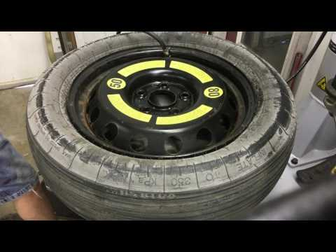 Space saver spare tire inflation
