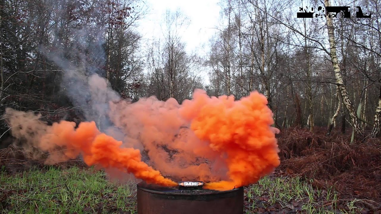 Orange signal smoke by PyroGate.EU - YouTube