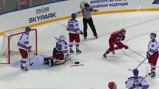Российская сборная обыграла канадцев со счетом 3:2 на Кубке мира среди юниоров.