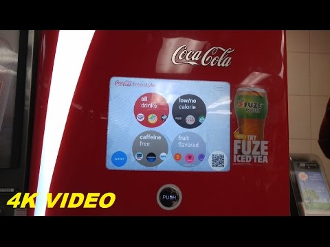 4K VIDEO: Computerized Drink Fountain @ Burger King (Whitney Field, Leominster, MA)