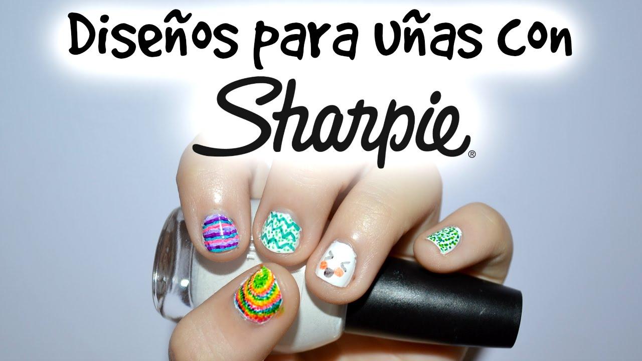 Sharpie Nail Art *Fun and easy* / Diseño con Sharpie *fácil y ...