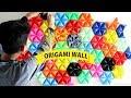 WOW MENYULAP ORIGAMI MENJADI HIASAN DINDING UNIK DIY Decorate Your Room