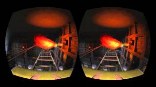 Temple Rollercoaster on the Oculus Rift in 3D