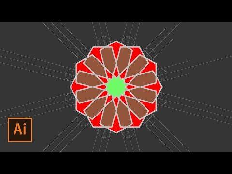 How to Create an Islamic Geometric Pattern #6 | Illustrator Tutorial thumbnail