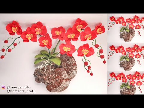 Easy Way to Make Felt Orchids - Unique Felt Flowers Wall Decor #DIY