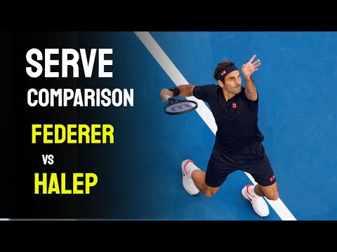 Roger Federer vs Simona Halep Serve Comparison