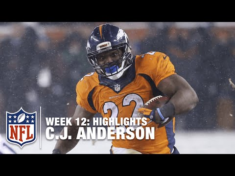 C.J. Anderson Highlights (Week 12) | Patriots vs. Broncos | NFL