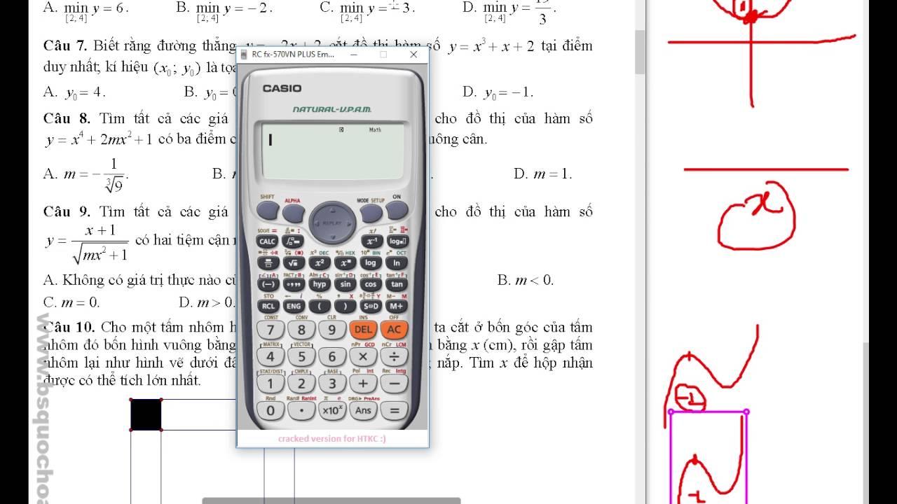 [Đề Toán] Tập 1: 1-10 Đề minh họa toán bộ giáo dục 2017 giải chi tiết
