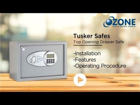 Ozone Tusker Digital Safe-Operating procedure and Key Security features video