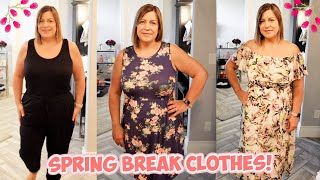 TRYING ON NEW CLOTHES FOR SPRING BREAK! SHOPPING HAUL!