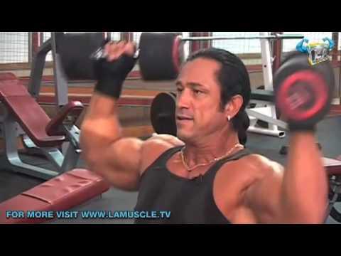Hard Core Shoulder Training with Bodybuilder Dean Ash- Part 2!