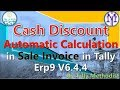 how to calculate automatic discount in sale invoice in tally erp9 6.4.4 in hindi ☺Le 44