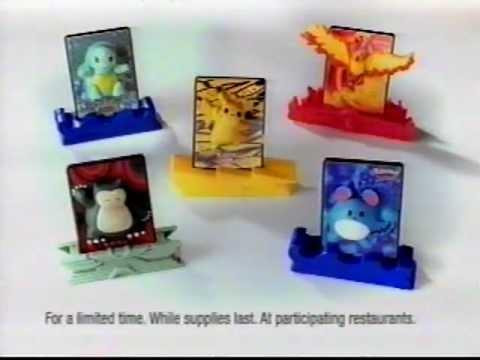 burger king 3d pokemon cards 2001 youtube
