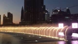 Dubai fountain 2016 HD - Sama Dubai arabic song