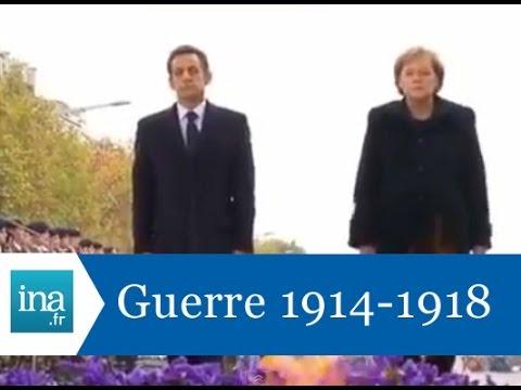 Cérémonies du 11 novembre avec Nicolas Sarkozy et Angela Merkel - Archive INA