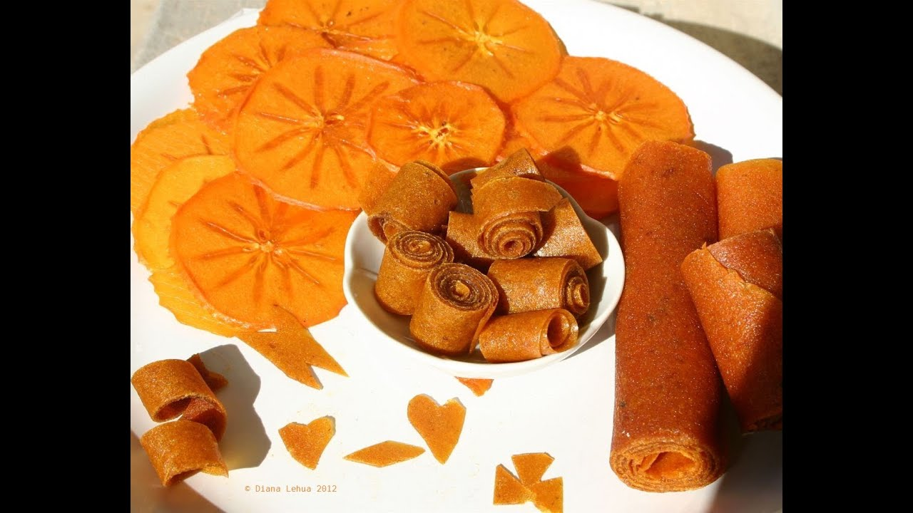 Persimmon Fruit Rollups & Chips - Diospyros Kaki: Fuyu ...