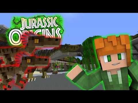 ARMY OF DINOS!!!   Jurassic World Orgins   EP5 (Jurassic World Minecraft Roleplay RPG)