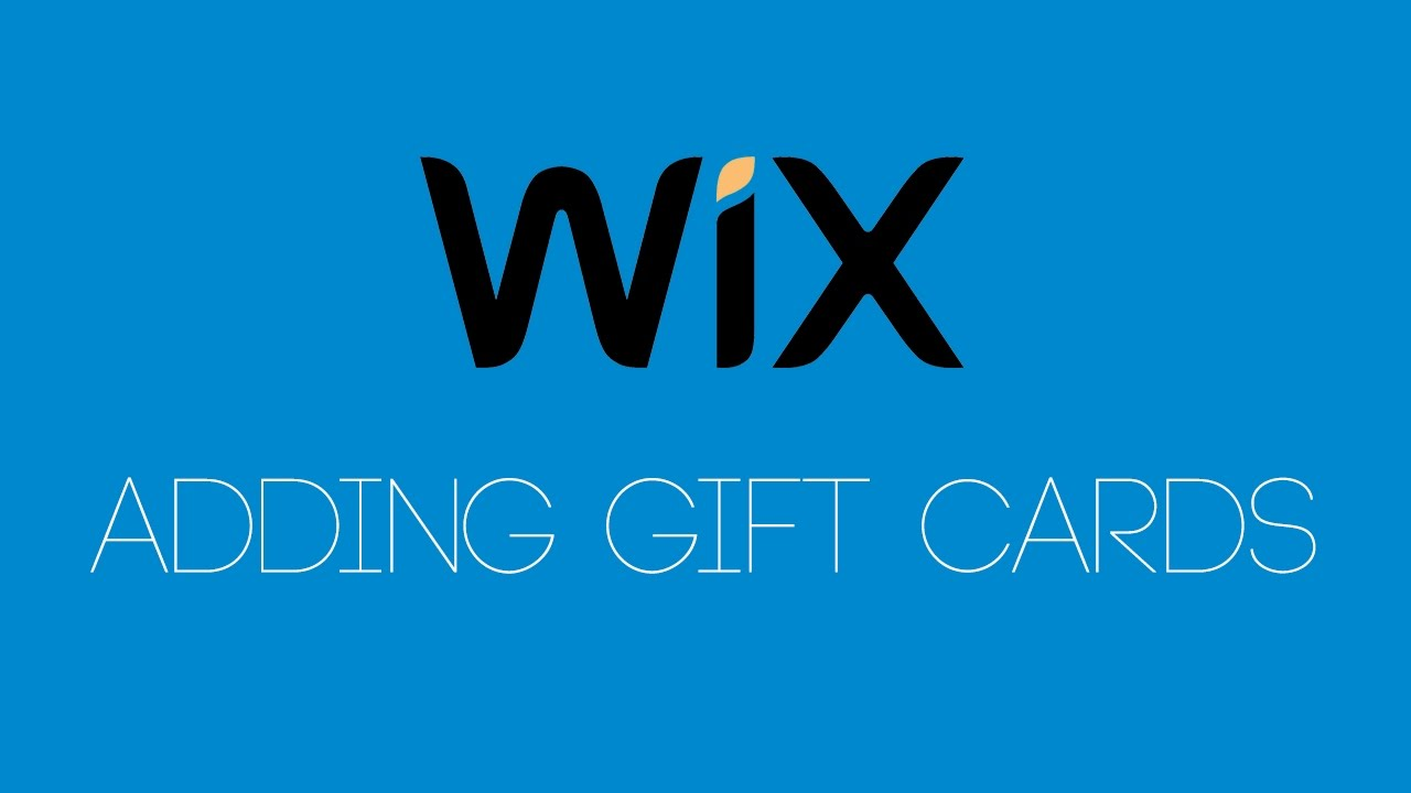 Adding Gift Cards To Your Wix Online Store - Wix.com Tutorial - Wix Tutorials For Beginners ...