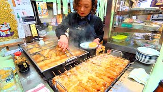 JAPANESE STREET FOOD - Osaka Street Food Tour | AUTHENTIC Street Food in Japan + BEST Oden in OSAKA