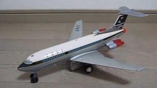 野村トーイ、電動走行  ブリキ製   B O A C ビッカースVC-10(Tin Toy VC10)小サイズ