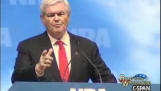 Newt Gingrich's NRA Speech 2012 | High Quality