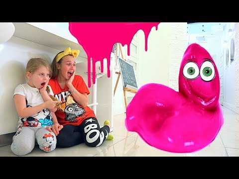 Giant slime lives in our home