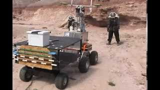 NASA Mars EVA Simulation with Robotic Assistant and Agents